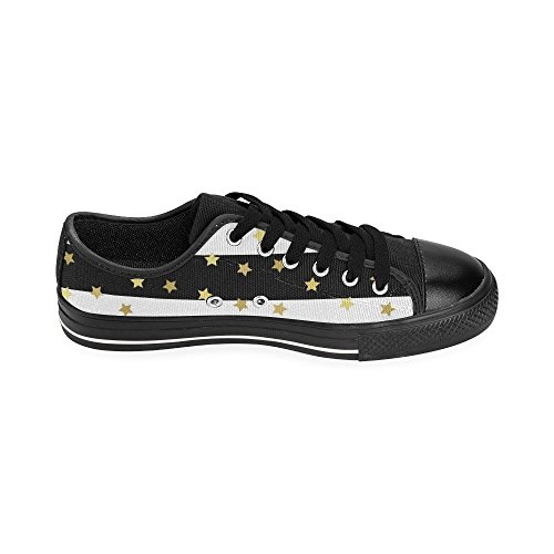 On Stars Slip Skulls Classic Glittering for Canvas InterestPrint Shoes Men Gold txwI6vxSq1