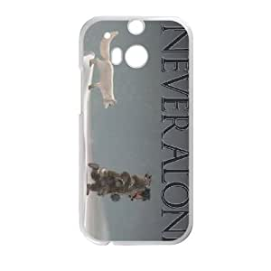 HTC One M8 Cell Phone Case White Never Alone Kisima Ingitchuna SUX_868552