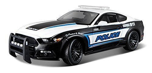 2015 Ford Mustang GT 5.0 Police 1/18 Scale Diecast Model Car By Maisto and Dale Earnhardt No. 3 Collectible Bear