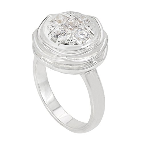 Kameleon Jewelry Sterling Silver Coming Up Roses Ring - KR048-5 (JewelPop not included)
