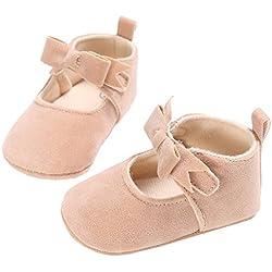 HOT !!! TIFENNY Fashion Toddler Newborn Baby Girl Crib Shoes Flower Soft Sole Anti-slip Sneakers (11, Beige)