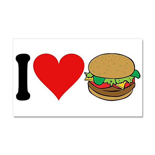 CafePress I Love Hamburgers (Design) - Car Magnet, 20