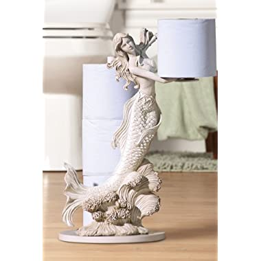 Mermaid Toilet Paper Holder, White