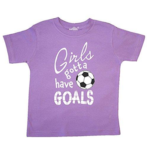 inktastic - Girls Gotta Have Goals- Soccer Toddler T-Shirt 4T Lavender 2c19d ()
