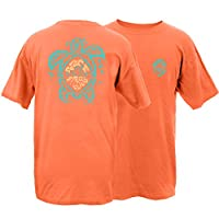 Peace Frogs Sea Turtle Frog Garment Dye Short Sleeve T-Shirt (Melon, X-Large)