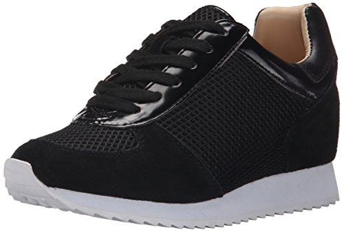 Nine West Womens Telly Suede Fashion Sneaker Black/Multi