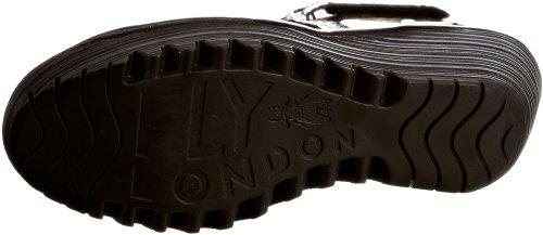 FLY London Yossa - Sandalias de cuero para mujer Negro