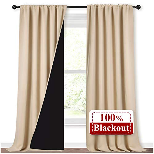 NICETOWN Thermal Insulated 100% Blackout Curtains