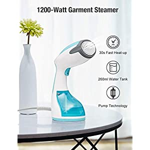 Beautural Clothes Steamer Handheld Garment Steamer portable 1200W for Home and Travel, Vertically & Horizontally Steam…