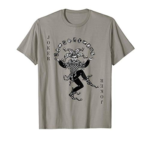 Jokers Wild Playing Card Halloween Costume T-shirt