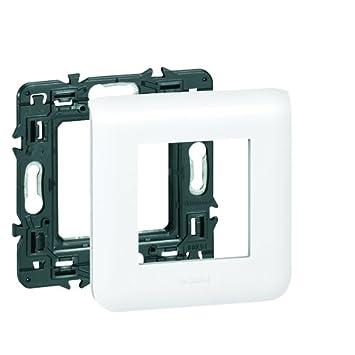 Legrand LEG99637 Plaque support pour 1 module Mosaic