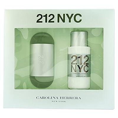 212 By Carolina Herrera For Women. Gift Set ( Eau De Toilette Spray 3.4 Oz + Hydrating Body Lotion 6.75 Oz )
