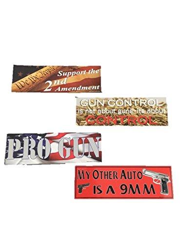 Dr Pro Gun - Pro Gun 2nd Amendment Magnet 11 by 4 Bumper Stickers Set of 4