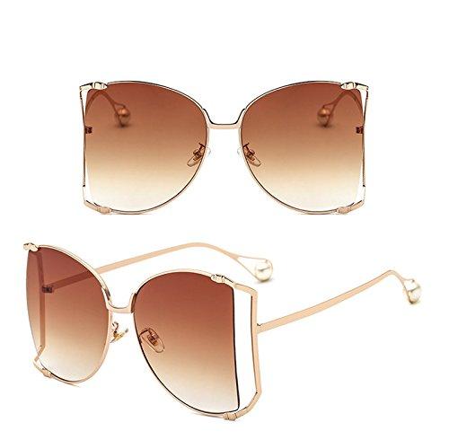 Grande Aire Ruikey Sol de 2 la de Sol Marco Sol Gafas del Gafas de La de al Perla de Gafas de Manera Libre Señora la 8qxOr1TS8