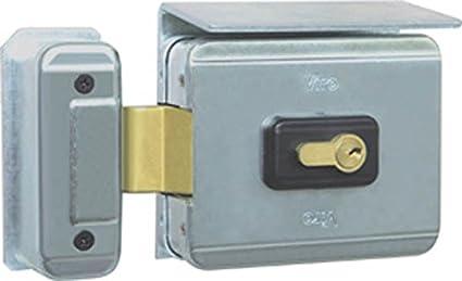 Cerradura eléctrica V90 – Cerrojo giratorio – Apertura hacia el exterior para portones y puertas entrada