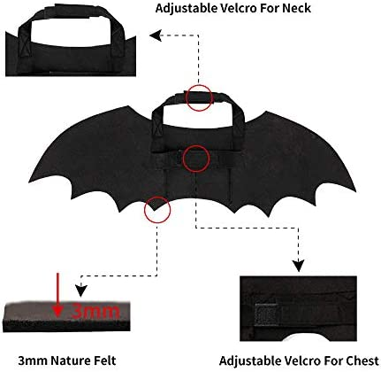 Spooktacular Creations Halloween Bat Wings Cat Pet Costume for Cosplay Party, Halloween Party Decoration, Holiday Decorations Clothing, Cat Dress Up Accessories 19