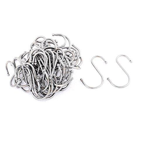 eDealMax Stainless Steel Kitchen Wardrobe Hanger Hook Holder Clasp 40pcs