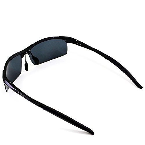 99eefde44f Ronsou Men Sport Al-Mg Polarized Sunglasses Unbreakable For Driving Cycling Fishing  Golf