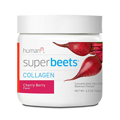 HumanN SuperBeets Collagen Concentrated Non-GMO Beetroot Healthy Skin Supporting Supplement (Cherry Berry Flavor, 6.3-Ounce,1-Pack)