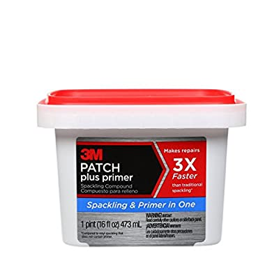 3M Patch Plus Primer Lightweight Spackling, 16 fl. oz. - PPP-16-BB, Gray
