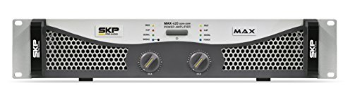 SKP Pro Audio Max-420 Stereo Output RMS Power 135 W Plus 135 W Powered Amplifier by SKP Pro Audio