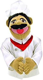 Melissa & Doug Chef Puppet With Detachable Wooden Rod for Animated Gest