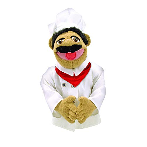 - Melissa & Doug Chef Puppet with Detachable Wooden Rod for Animated Gestures