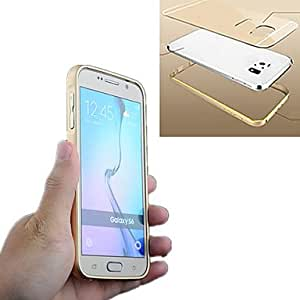 LCJ Ultra Slim 2 in 1 Metal Hard Frame PC Back Cover Mobile Case for Samsung Galaxy S6(Assorted Colors) , Golden