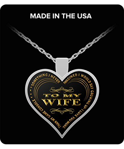Silver Plated Console - Gift for Wife - I Never Thought I would say I Love You More Than My Game Console - Funny Statement Necklace for Women, Valentine's Day, Mother's Day Sterling Silver Plated 1 inch