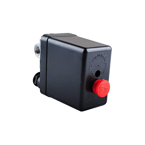 - Central Pneumatic Air Compressor Pressure Switch Control Valve Replacement Parts 90-120 PSI 240V Air Compressor Pressure Switch Control Valve