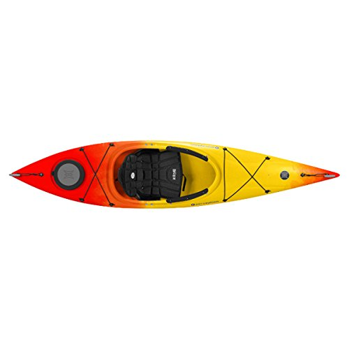 Perception Tribute 10.0 Kayak, Red/Yellow For Sale