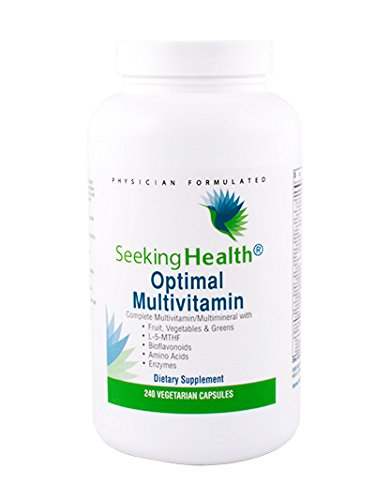 Optimal Multivitamin | Provides Organic Fruits And Vegetables, Greens, Bioflavonoids, Amino Acids And Enzymes | 240 Easy-To-Swallow Vegetarian Capsules | Seeking Health by Seeking Health