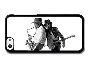 AMAF ? Accessories Bruce Springsteen and Clarence Clemons Saxophone Black and White case for iPhone 5C