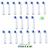 Amaxom Premium Replacement Toothbrush Heads for Oral-B Precision Clean EB20-4(EB-20A), 20 Count(5-pack).