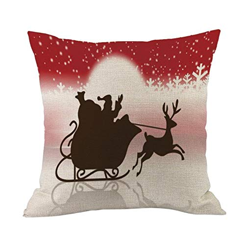 MEILIDONGREN Santa Claus Dog Letter Cushion Cover Merry Christmas Ambience Decorations 07