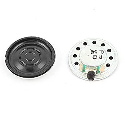 Amazon.com: eDealMax 2pcs 0.5W 8Ohm 20mm Interior Redondo Imán electrónica altavoz trompeta: Electronics