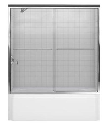 Kohler R702200 L Shp Fluence Frameless Bypass Shower Door With