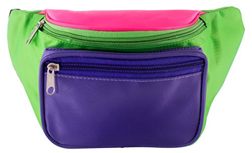 Neon Purple, Green, & Pink Tri-color Waist Pack