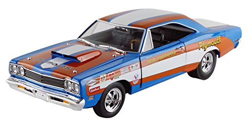 (Plymouth 1969 Roadrunner Hardtop Don Grotheer Limited Edition to 996pcs 1/18 Autoworld AW220)