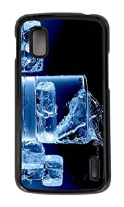 Google Nexus 4 Case,MOKSHOP Adorable ice splash drink Hard Case Protective Shell Cell Phone Cover For Google Nexus 4 - PC Black