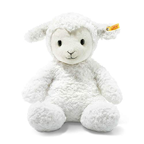 (Steiff Stuffed Fuzzy Baby Lamb - Soft And Cuddly Plush Animal Toy - 16