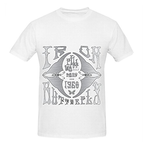 Iron Butterfly Fillmore East 1968 Rock Album Cover Mens Crew Neck Digital Printed T Shirts White