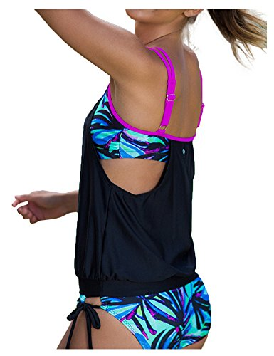 AuntTaylor Classic Halter Backless Swimsuits Sports Swimwear for women Camo L