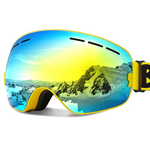 Ski Goggles Snow Snowboard Goggles for Men Women Youth 100% UV Protection Anti Fog