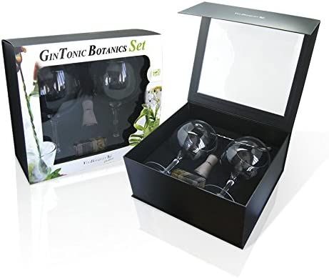 Vin Bouquet Gin Tonic FIK 073 Set Productos, Cristal de Bohemia, Multi, 31.5 x 28 x 14 cm
