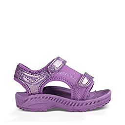 Teva Girls\' Psyclone 4 Sandal, Purple Sparkle, 7 M US Toddler