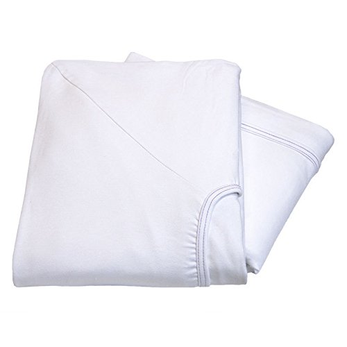 (USA_Best_Seller White 2 New Contour Twin Knitted Fitted Sheet Hospital Bed Comfort 36x84x16 30oz Nice Poly Cotton Nursing Massage Salon Linen )