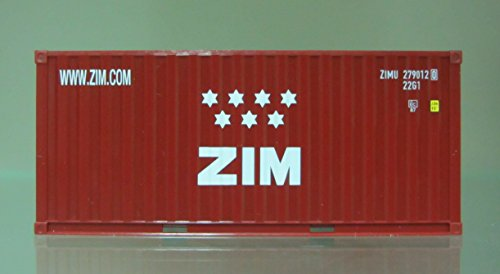 Israel 20' ZIM Container,HO 1:87 scale, By - Container Herpa