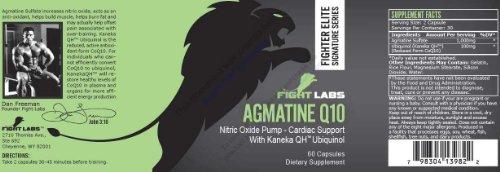 Agmatine Q10 Pompe Nitric Oxide & Support cardiaque avec Kaneka QH Ubiquinol par les laboratoires Combat