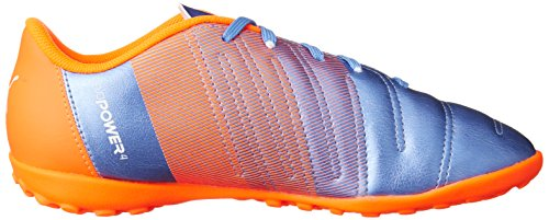 Puma evoPower 4,3 TT Jr Chaussure Football Puma Yonder Blue/White/Orange Shocking 3,5
